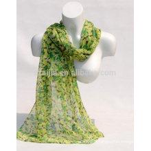 Moda feminina 100 algodão cachecol floral