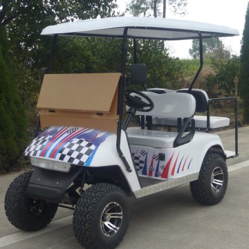 Carrello da golf alimentato a gas da 2 posti, golf cart economico con CE