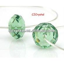 Lampwork Glas facettierte Rondelle Perlen