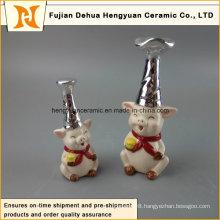 New Design Decorative Ceramic Pig Large White