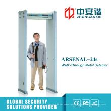 LCD Screen Institución Financiera Guard Archway Metal Detector