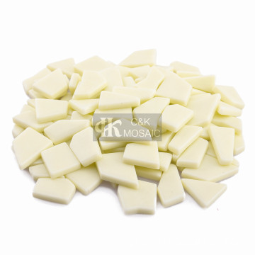 Ivory Irregular Molded Glass Sintered