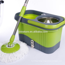 Spin Mop Handle Replacement with 2 Microfiber cloth mop heads