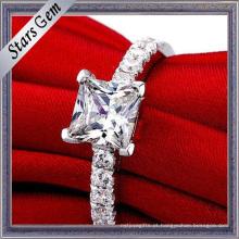 Alta Qualidade Prata Amantes Românticos Moda Anel Wedding Jewellry