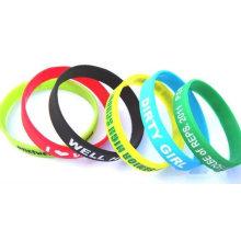 2014 nouveaux bracelets en silicone personnalisés bon marché