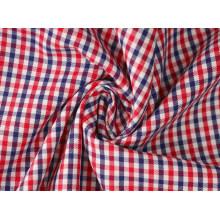 Rouge/marine contrôles sergé Polyester tissu de coton 40 60 pour chemises