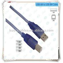 Hi-Speed USB 2.0 Câble bleu Câble d'imprimante Usb 10mètre