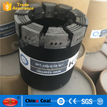 Diamond Exploration Coring Drill Bit NQ HQ PQ BQ AQ Pdc For Coal Drilling