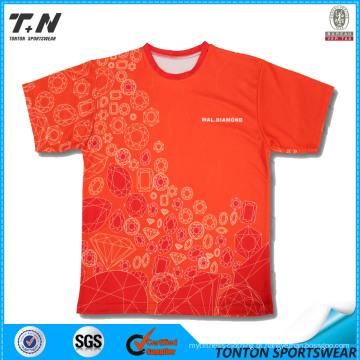 T-shirt cheios do costume do golfe da cópia
