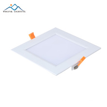 Ip55 rechargeable emergency standard sizes square led panel light 6w