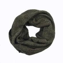 Snood de boucle tricoté lourd d'impression de diamant d'hiver unisexe (SK179)
