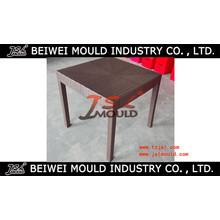 Moulage de table de rotin en plastique d'Injectgion adapté aux besoins du client