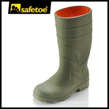 Anti-Rutsch-Regenstiefel, PVC-Außensohle Regenstiefel, Stahl-Zehen-Regenstiefel Y-6041
