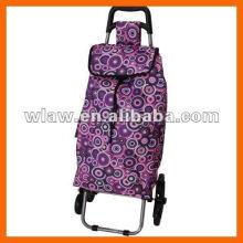 2 rodas fácil transportando shoping bag