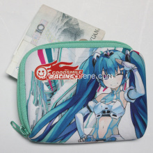 Neoprene Cartoon Pattern Money Bags Dengan Zipper