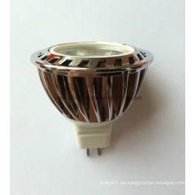 La alta calidad 12V DC COB LED MR16 abajo luz con la lente