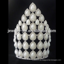 Tiaras de perlas de alta calidad al por mayor Pearl Wedding Tiara