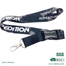 Customized Design Black Color Medal Lanyard with Accessory