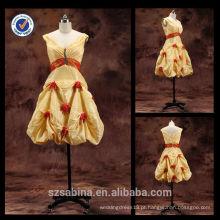 E0129 Imagens de amostra reais vestidos de noite vestidos de noite curtos baratos corrida de império