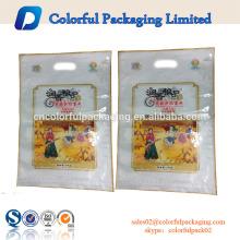 Saco de arroz personalizado tamanho 1 kg 5 kg 10 kg / saco de nylon de embalagem de arroz