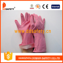 Latex Rubber Gloves with DIP Flock Liner Long Cuff DHL421