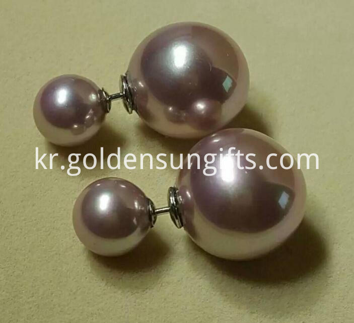 Purple Shell Pearl Earrings Jewelry