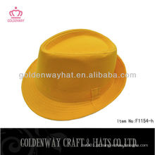 Novo Designer chapéu de fedora amarela