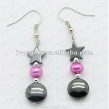 Magnético Hematite Star Beads Brincos