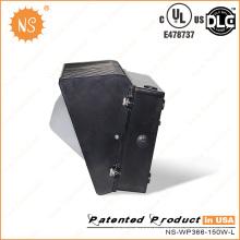 IP65 impermeável 5 anos de garantia 150W LED Wall Pack lâmpada
