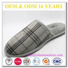 Fashion high quality popular washable mens plaid design slipper