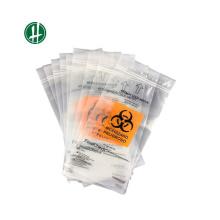 Saco médico biodegradável Ziplock do risco biológico