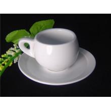 Taza de café de porcelana con pared gruesa