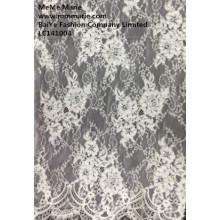 Elfenbein afrikanische Samt-Spitze-Gewebe preiswerteres on-line-Stickerei-Blumen-Gewebe-Spitze LC141004