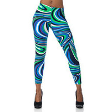 Pantacourt Capri sublimé, Legging Capri coloré, Flip multicolore (CRP-005)