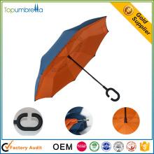 Unternehmen in China Stoff Doppelschicht cool Reverse Regenschirm zum Verkauf
