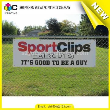 Venda quente cusotm PVC exterior grande formato impressão frontlit banner