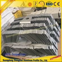 Perfil de alumínio da mobília com base profunda do computador do processamento do CNC