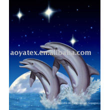 Mink blanket-dolphin