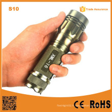 S10 Gold 400lumen Aluminium Rechargeable Zoom Easy Carry réglable Mini LED Lampe de poche