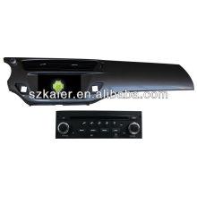Reprodutor de DVD do carro do sistema de Android para Citroen C3 com GPS, Bluetooth, 3G, iPod, jogos, zona dupla, controle de volante