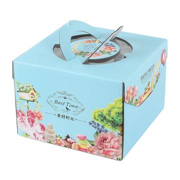 Custom cheese cake box birthday cake carrying box