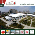 Large 40m Arch Double Decker Tent with Glass Wall for Events