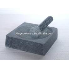 granite square mortar and pestle polished