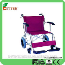 Carrinho de mão de cadeira de rodas linda de alumínio