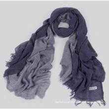 Fashionable viscose two-tone wide shawl