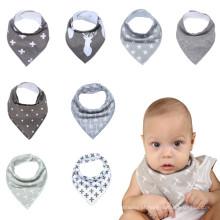 8packs presente bebê bibs meninos e meninas bebê bibs bandana