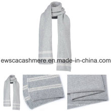 Women′s Pure Cashmere Scarf with Stripes
