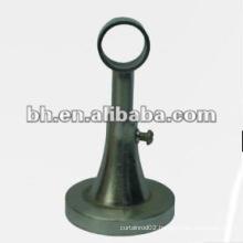 bronze metal iron single curtain rod bracket,steel single decorative curtain rod bracket