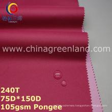 100%Polyester Pongee PU Coating Fabric for Sports Dust Coat Garment (GLLML249)