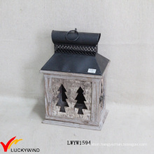 Antique Small Bark Brown Candle Lanterns Supplier
